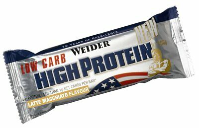 Weider 40% High Protein Nutrition Low Carb Latte Macchiato Bar 100G (Pack of 16)