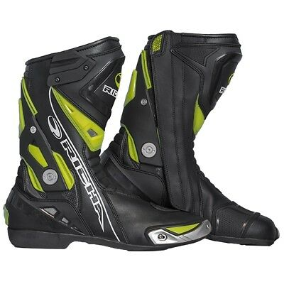 Richa Blade Boots - Waterproof Black / Fluo Sports Motorcycle boots QZ