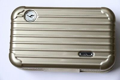 RIMOWA Lufthansa First Class Ladies Amenity Kit Golden Pearl Travel Bag Case New