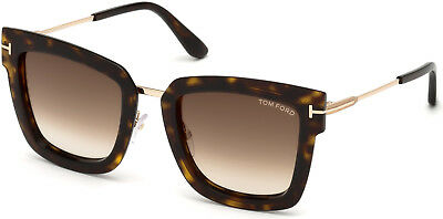 e3b4582e6e3 AUTHENTIC TOM FORD FT0573 Lara-02 52F Dark Havana Sunglasses ...