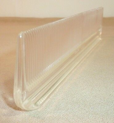Vintage ~ Clear Transparent ~ COLUMBIA STANDEE USA Pat Pend Plastic Hair Comb 8""