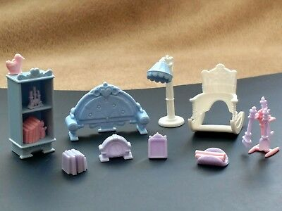 Vintage Fisher Price Precious Places Livingroom Furniture Set, Complete