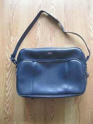 VINTAGE American Tourister Carry Bag Luggage Blue Mod Duffle Bag Suitcase