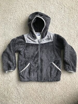 North Face Baby Boy/girl Grey Hooded Zipper Jacket Size 18-24M