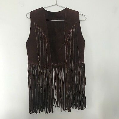 Vintage Leather Fringe Vest
