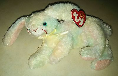 TY Beanie Baby Babies COTTONBALL Easter Bunny Rabbit NEW Retired from Year 2002