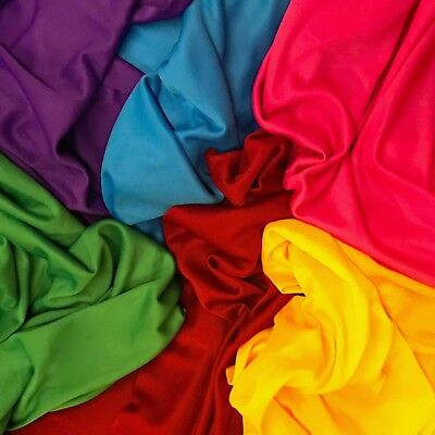 "Interlock Lining Poly Stretch Fabric 70 Denier 60"" Wide Sold BTY Many Colors"