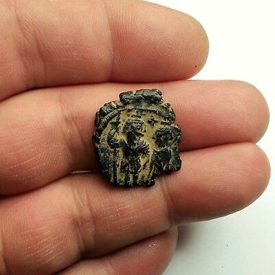 Ancient Byzantine bronze coin not inscribed? 6-7AD. 9.1