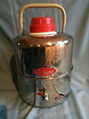Vintage Viking Stainless Steel 5 Qt Picnic Jug Usa - Excellent Condition!!!