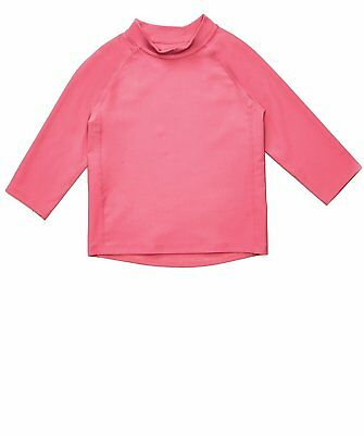 Leveret Pink Long Sleeve Rash Guard Sun Protected UPF + 50 12 Months -5 Toddler