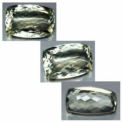 16.30 Ct Aaa! Natural! Light Green Uruguay Amethyst Cushion
