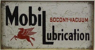 MOBIL Lubrication Metal Sign socony-vacuum pegasus gas & oil vintage style  2049