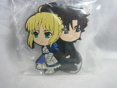 Fate / Stay Night series Prize Rubber Key-Chain Saber & Kirei Kotomine