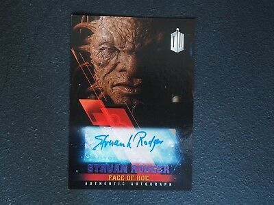 2016 Topps Doctor Who Struan Rodger Face of Boe AUTO Autograph Purple #16/25