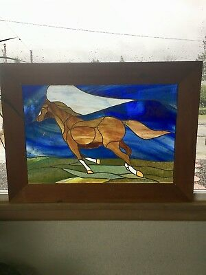 Stained glass window Galloping Horse