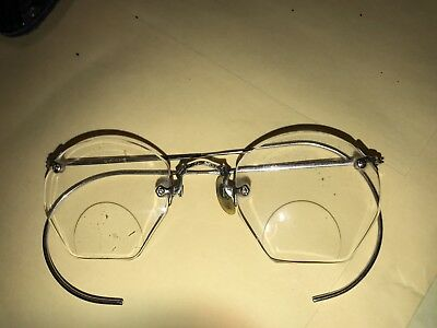 A Pair Of Vintage Art Deco Style Glasses , Antique Rimless Eyeglasses