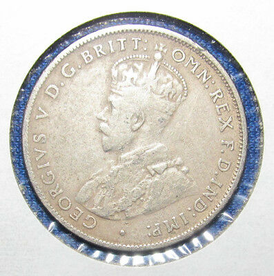 1936 Australian One Florin - Two Shillings Silver King George V Coin R-377