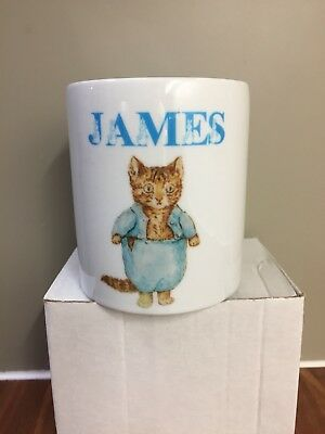 Personalised Beatrix Potter Tom Kitten Money Box Peter Rabbit