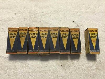 Vintage Wizard 66S & 68 Spark Plugs Lot of EIGHT | New Old Stock | Original Box