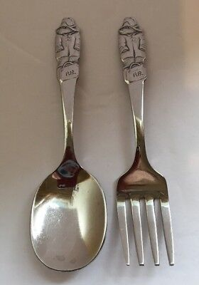 Paddington Bear Fork And Spoon Set 4 1/4""