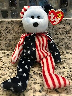 """""""Spangle"""" Retired TY Beanie Baby 1999 Blue Face- Rare with Tag Errors"""