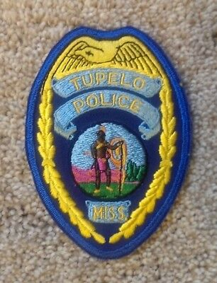 Police Patch,tupelo, Mississippi Police, Badge Patch Law Enforcement Collectible