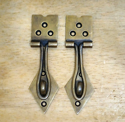 "4.72"" Inches Lot of 2 pcs Vintage Solid Brass Arrow LATCH Box Door Latch Lock"