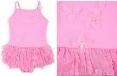 NWT Kate Mack Spun Sugar 1pc Tulle Skirted Swimsuit Size 2T 3T 4T 5