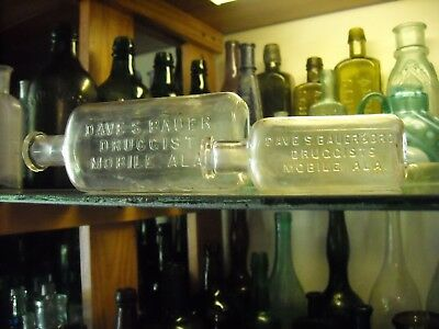 Two antique medicines Mobile. Alabama early 1900s clear