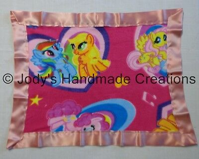 NEW My Li/'l Pony Polar Fleece Satin Trim Baby Blanket