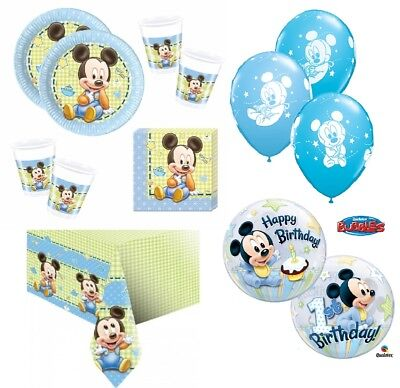 Mickey Mouse Baby Kindergeburtstag SET Motto Party Kinderparty