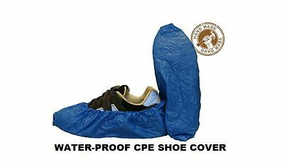 100x SHOE COVER CPE MATERIAL HEAVY DUTY - WATER PROOF ONE SIZE