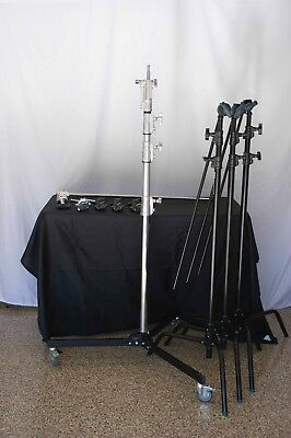 Avenger Grip Lot; Roller Stand, C Stand 2030D (3) & Extension Arms & accessories