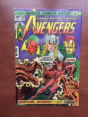 The Avengers #128 (Oct 1974, Marvel) 4.0 GD Scarlet Witch Bronze Age Comic Key