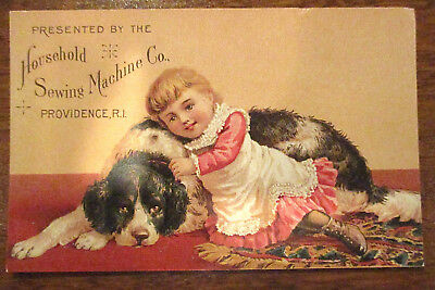 Victorian Household Sewing Machine Co., Providence, Ri Advertising Trade Card