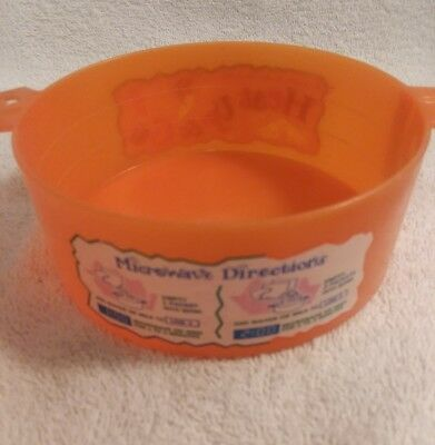 '93 Color Changing Orange Yellow QUAKER INSTANT OATMEAL MICROWAVE BOWL vintage