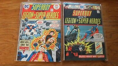 Superboy and the Legion of Superheroes lot- #209-215, 218-230 Mike Grell art!