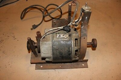 Emrson Electric Motor Vintage 1/3HP 115V 5.6amps Dual Shaft Lathe Custom Pipe