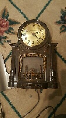 Mastercrafters Fireplace Clock 272 Vintage AS IS