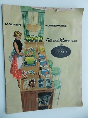 Modern Housewares Fall / Winter 1953 Catalog from  The Home Store Dayton OH