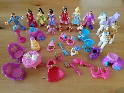 2009 Fisher Price Precious Places Princess Figures And Accessories 35PC