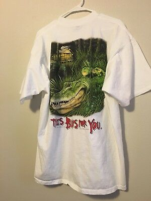 Budweiser XXL Frog And Crocodile Tee  White T Shirt Mens King of Beers