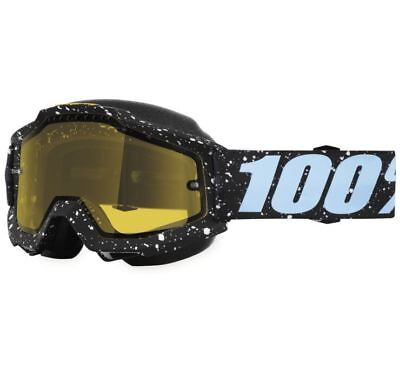100% Accuri Snow Goggles - Milkyway with Yellow Lens