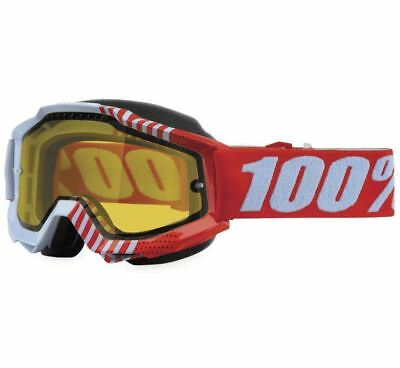 100% Accuri Snow Goggles - Cupcoy with Yellow Lens