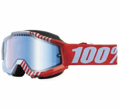 100% Accuri Snow Goggles - Cupcoy with Blue Lens