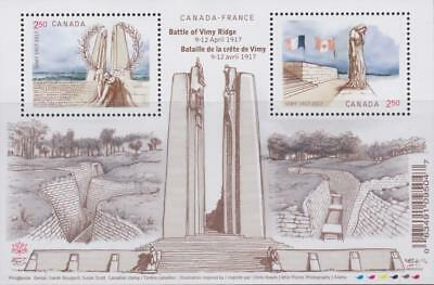 Canada 2017 Souvenir Sheet #2981 Battle of Vimy Ridge - MNH