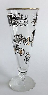 Vintage Mid Century Modern Black And Gold Pilsner Carriage Designs Free Shipping