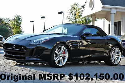 2015 Jaguar F-Type V8 S Convertible 2015 Performance PKG Extended Leather PKG Vision PKG 3 Ultimate Black Auto 495HP