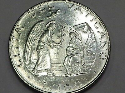 Vatican 1987 Pope John Paul II 100 Lire The Annunciation Mary and Angel Gabriel