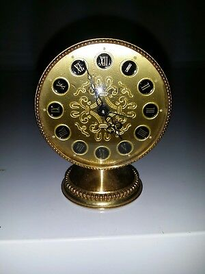 Vintage Swiza Sheffield Wind Up Alarm Clock Works Great Swiss Made